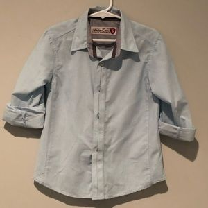 New light blue button down top